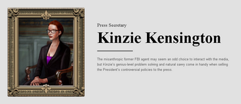 Saints Row website - People - The Cabinet - Kinzie Kensington