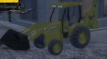Backhoe in Garage in Saints Row 2