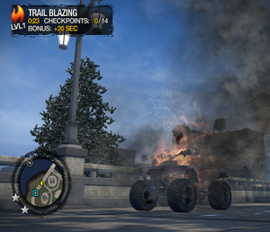 Trail Blazing in Saints Row 2 - level 1 with 20 second bonus
