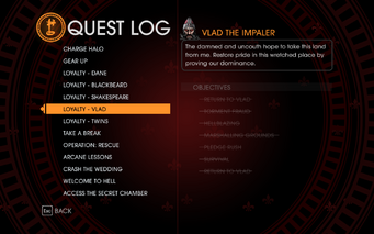 Gat out of Hell - Completed Quests - Loyalty - Vlad