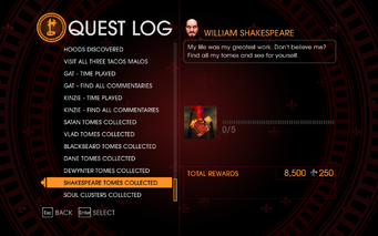 Gat out of Hell Challenge - Shakespeare Tomes Collected