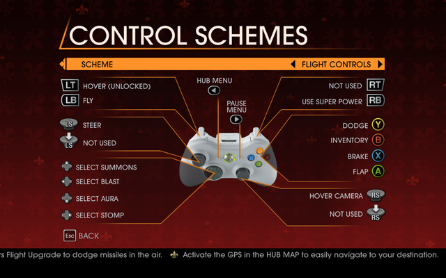 File:Saints Row Gat out of Hell - Main Menu - Options - Controls - Gamepad - Control Schemes - Flight Controls.png