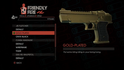 Weapon - Pistols - Heavy Pistol - .45 Fletcher - Gold-Plated