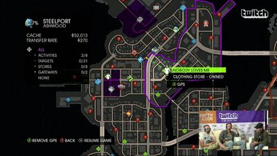 Nobody Loves Me on Map in Saints Row IV