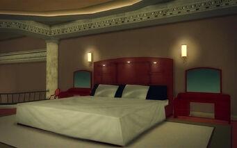Downtown Loft - Modern - bed
