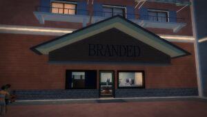 Branded in Stilwater Boardwalk - south exterior, entrance