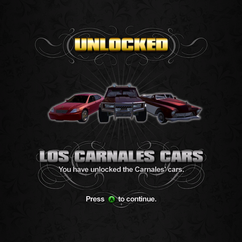 File:Saints Row unlockable - Vehicles - Los Carnales Cars - Eiswolf, Bulldog, Gunslinger.png