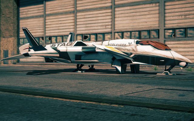File:F-69 VTOL - front left parked in Saints Row IV.png