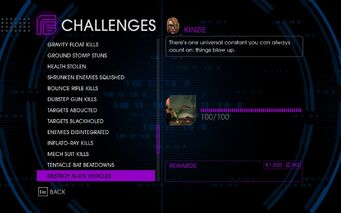 Challenge 53 Destroy Alien Vehicles