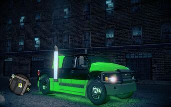 Luchadores Compensator - front right with lights in Saints Row IV