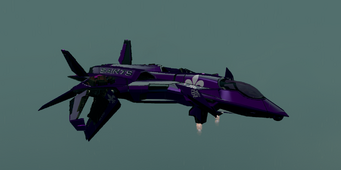 Saints Row The Third DLC vehicle - Saints VTOL - hover - angle