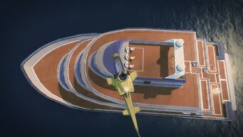 Executive Yacht - view from above without enemies