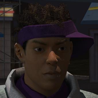 Dex's face as a homie in Saints Row