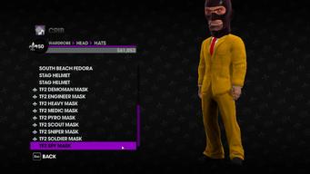 Valve Clothing Pack tf2 mask 9 spy