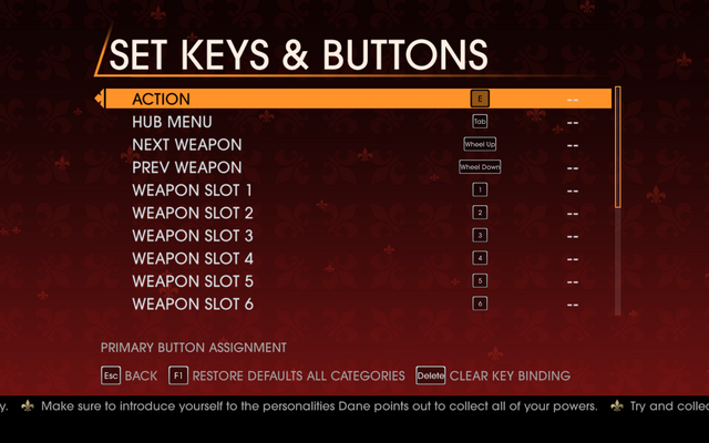 File:Saints Row Gat out of Hell - Main Menu - Options - Controls - Set Keys & Buttons - General.png