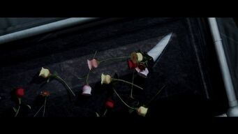 Rest in Peace - flowers on coffin