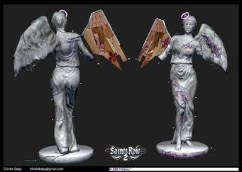 Saint of all Saints concept art - Saints Row 2 front and back