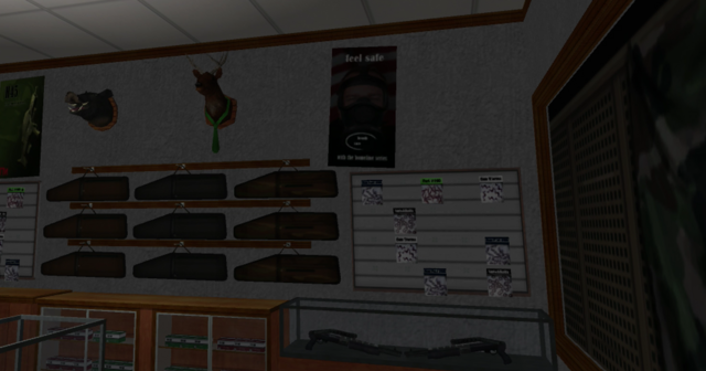 File:Friendly Fire in Sommerset - interior - wall with trophies.png
