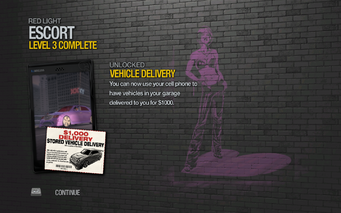 Vehicle Delivery 1000 unlocked after Escort level 3 in Saints Row 2
