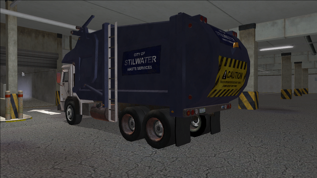 File:Saints Row variants - Stilwater Municipal - Garbage Truck - rear left.png