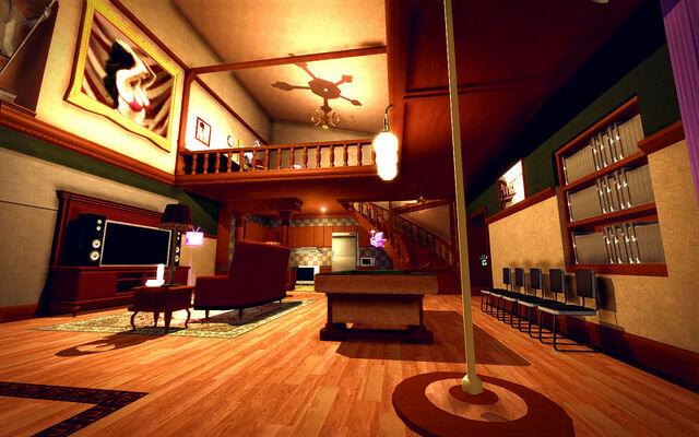 File:University Loft - Ultra Modern - downstairs towards kitchen.jpg