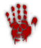 Saints Row 2 clothing logo - Murry02 (bloody hand print)