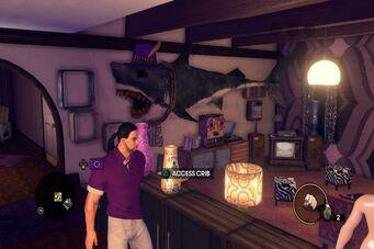 Zimos' Pad - shark and living room