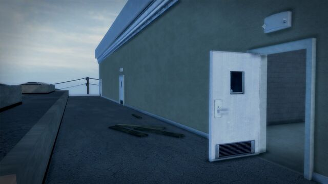File:Developer offices - exterior rooftop entrance door.jpg