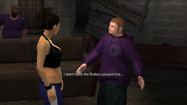 File:Reclamation cutscene - I didn't think the Rollerz pimped hos.png