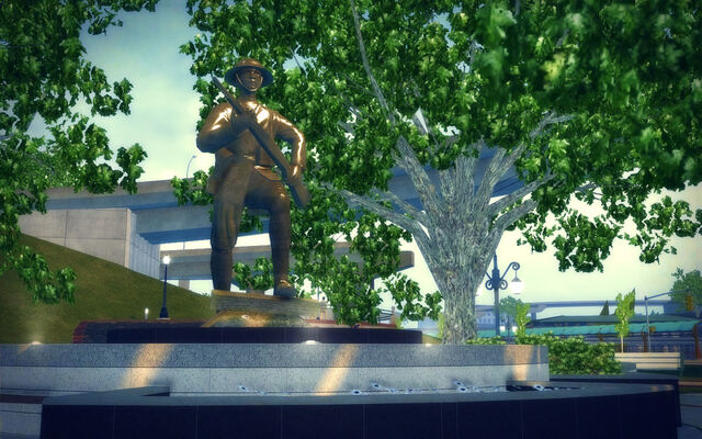 File:Mission Beach in Saints Row 2 - soldier statue.jpg