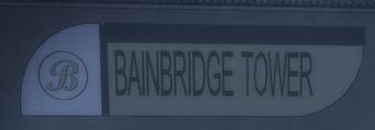 Bainbridge Tower front sign