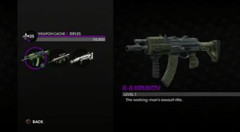 K-8 Krukov in the Weapon Cache