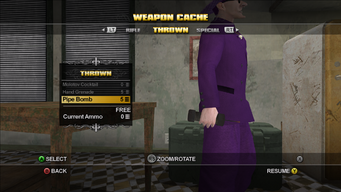 Saints Row Weapon Cache - Thrown - Pipe Bomb at rest