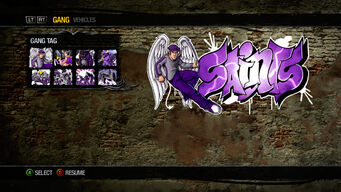 Gang Customization in Saints Row 2 - Gang Tag