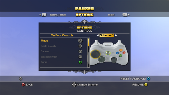File:Saints Row Menu - Options - Controls - On Foot Controls - Scheme C.png