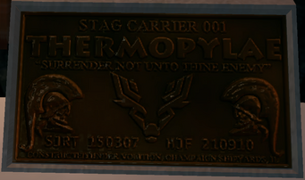 Thermopylae builders plate in game closeup