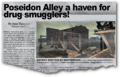 Newspaper sh bh docks Poseidon Alley Docks