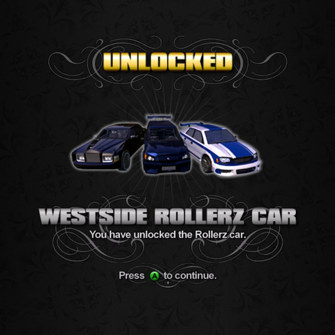 File:Saints Row unlockable - Vehicles - Westside Rollerz Car - Justice, Quasar, Voxel.png
