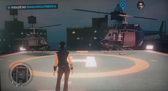 Oppressor and Side Shooter on helipad in Saints Row The Third