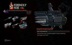 Knifethrower in Friendly Fire in Saints Row IV