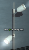 Improvised Weapon - lamp (tall white)