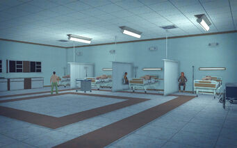 Union Square in Saints Row 2 - hospital ward