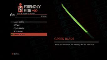 Weapon - Melee - Energy Sword - Laser Razor - Green Blade