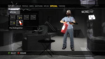 Fire Extinguisher in Weapons Cache