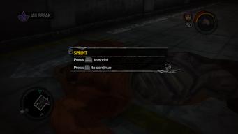 Sprint tutorial in Saints Row 2
