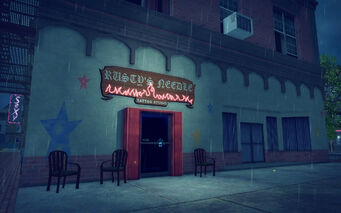 Rusty's Needle in Bavogian Plaza in Saints Row 2