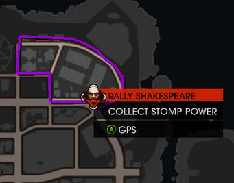 Saints Row Gat out of Hell - Charge Halo quest map locations - Rally Shakespeare