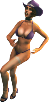 Stripper with Saints outfit - Saints Row The Third promo image