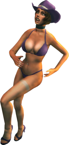 File:Stripper with Saints outfit - Saints Row The Third promo image.png