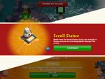 Unlock scroll statue